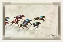 Quarter Pole Sprint by Craig Alan -  sized 10x6 inches. Available from Whitewall Galleries